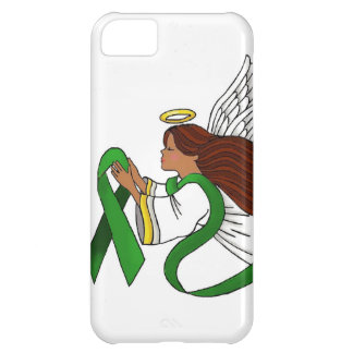 """""""Green Ribbon"""" Ethnic Angel Cover For iPhone 5C"""