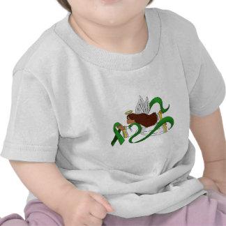 """Green Ribbon"" Ethnic Angel T-shirt"