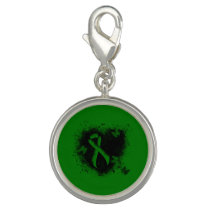 Green Ribbon Grunge Charm
