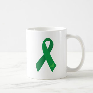 Green Ribbon Hearts Coffee Mug