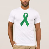 Green Ribbon Hearts T-Shirt