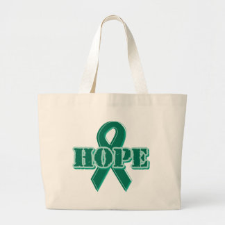 Green Ribbon - Hope Large Tote Bag