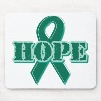 Green Ribbon - Hope Mouse Pad