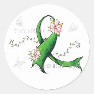 Green Ribbon Lyme Disease Sticker