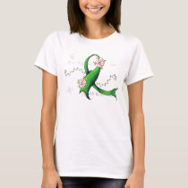 Green Ribbon Lyme Disease Womens TShirt