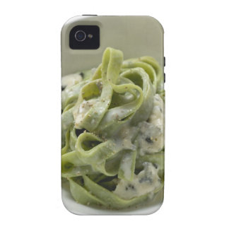 Green ribbon pasta with Gorgonzola sauce Case-Mate iPhone 4 Covers