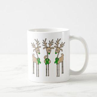 Green Ribbon Reindeer (Liver Cancer) Coffee Mug
