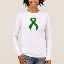 Green Ribbon Support Awareness Long Sleeve T-Shirt