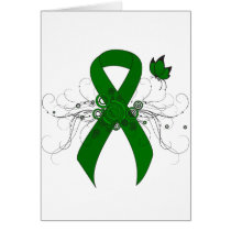Green Ribbon with Butterfly