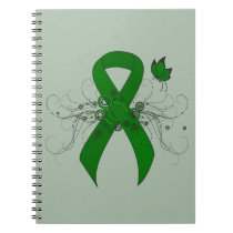 Green Ribbon with Butterfly Notebook