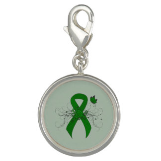 Green Ribbon with Butterfly Photo Charms