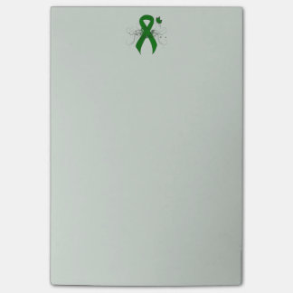Green Ribbon with Butterfly Post-it Notes