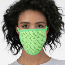 Green Ribbon with Dinosaurs  Awareness Face Mask