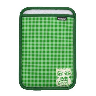 Green Rickshaw iPad Sleeve | Owl