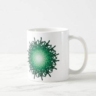 green riddle mug