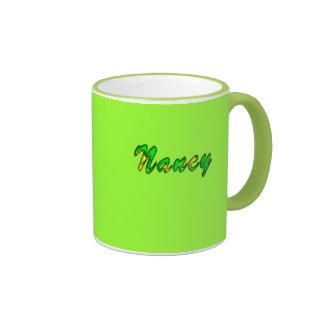 Green Ringer Nancy tea mug