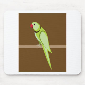 Green ringneck parrot vector mouse pad