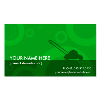green rings mowing business card template