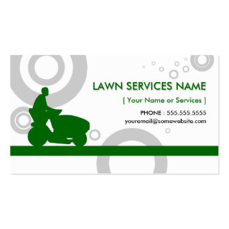 green rings mowing business cards