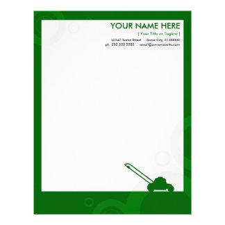 green rings mowing letterhead