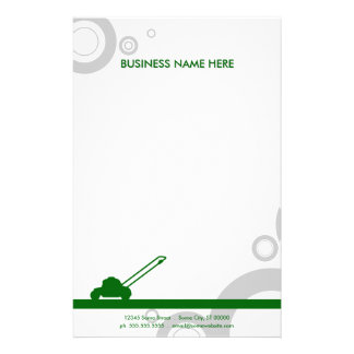 green rings mowing stationery