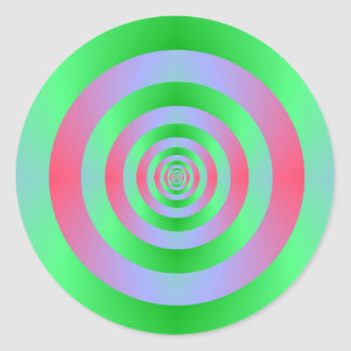 Green Rings on Pink Sticker