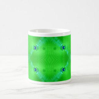 green ripple coffee mug