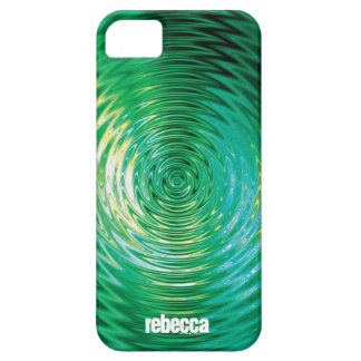 Green Ripple Effect iPhone SE/5/5s Case