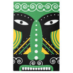 green ritual tribal metal print