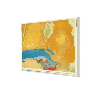 Green River Basin Geological Canvas Print