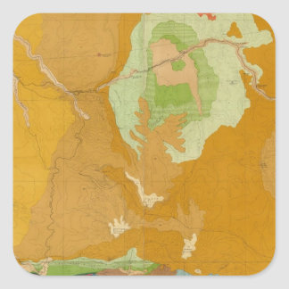 Green River Basin Geological Square Sticker