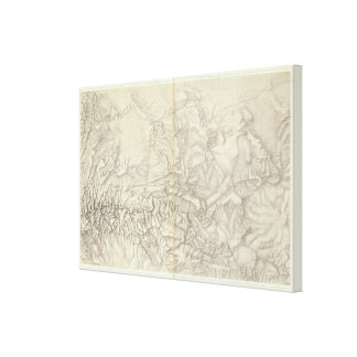 Green River Basin Topographical Canvas Print
