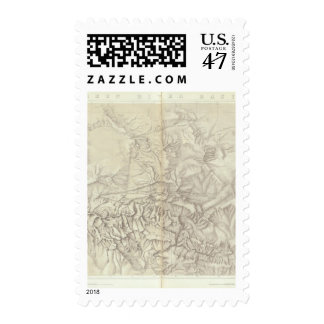 Green River Basin Topographical Postage