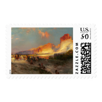 Green River Cliffs in Wyoming Postage