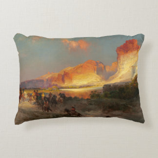 Green River Cliffs, Wyoming Accent Pillow