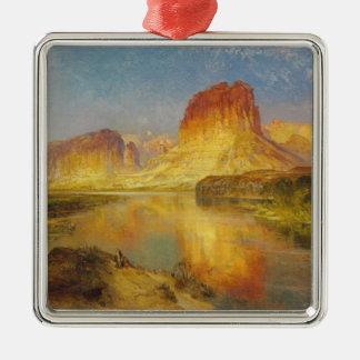 Green River de Wyoming - 1878 Adorno Navideño Cuadrado De Metal