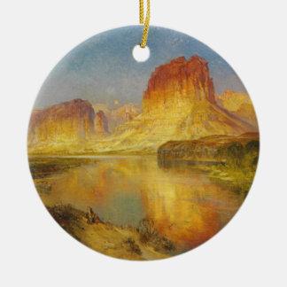 Green River de Wyoming - 1878 Adorno Navideño Redondo De Cerámica