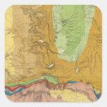 Green River del ferrocarril del Pacífico de la Calcomanías Cuadradass Personalizadas