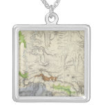 Green River from the Union Pacific Rail Road Map Square Pendant Necklace