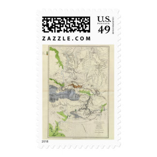 Green River from the Union Pacific Rail Road Map Postage Stamps
