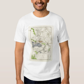 Green River from the Union Pacific Rail Road Map T-Shirt
