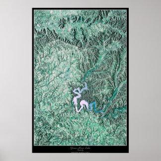 Green River Lake, Kentucky satellite poster