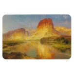 Green River of Wyoming - Thomas Moran (1878) Rectangle Magnets
