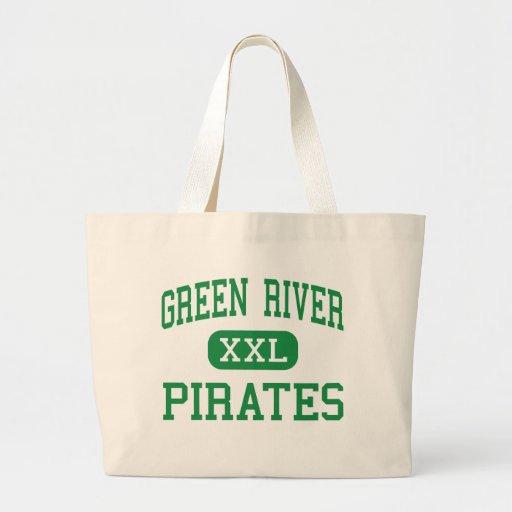 Green River - piratas - alto - Green River Utah Bolsa Lienzo