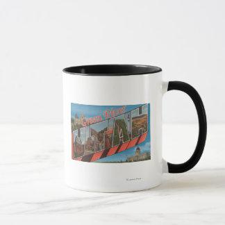Green River, Utah - Large Letter Scenes Mug