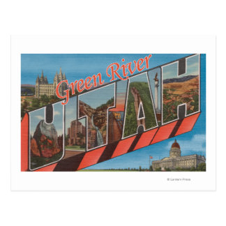 Green River, Utah - Large Letter Scenes Postcard