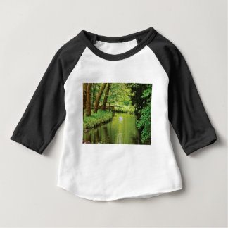 green riverbed scenery baby T-Shirt