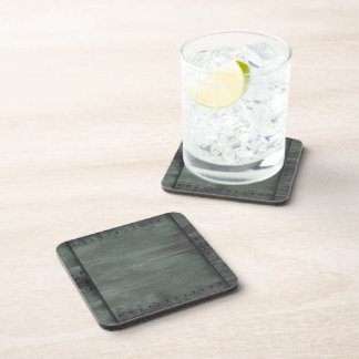 Green riveted steel texture drink coaster