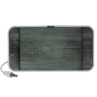Green riveted steel texture portable speakers