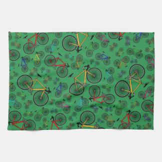 Green road bikes towel
